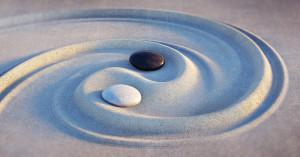 Yin yang sand